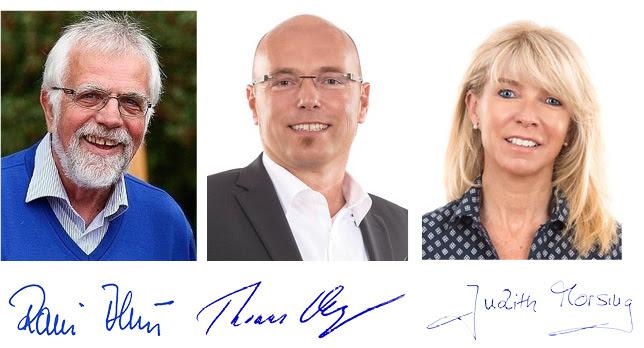 Vorstand Stiftung Rückhalt Rainer Blum Thomas Vogelgesang Judith Morsing
