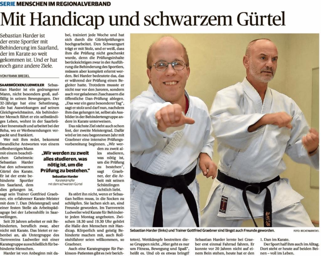 Artikel Saarbrücker Zeitung Sebatian Harder