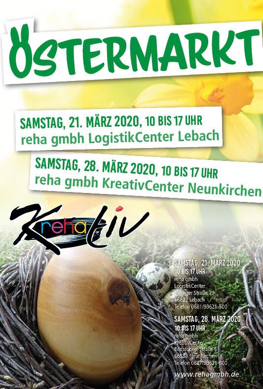 Einladung reha Ostermarkt 2020