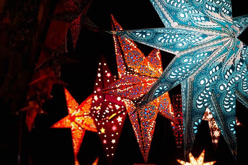 Weihnachtsdeko-Beleuchtete-Papiersterne